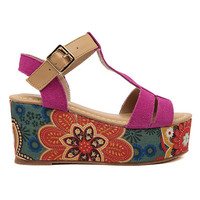 ROMWE Color Block Buckled Sandal