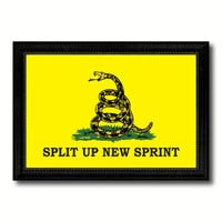 Split Up New Sprint Military Flag Canvas Print Black Picture Frame Gifts Home Decor Wall Art