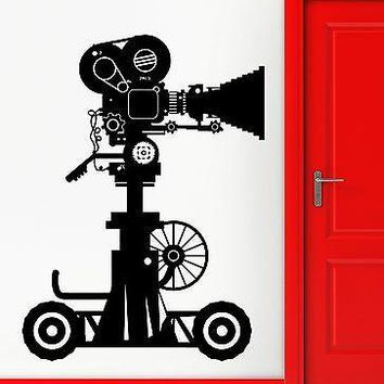 Wall Stickers Vinyl Decal Movie Camera Hollywood Actors Decor  Unique Gift (z2303)
