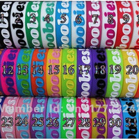 Official I Love Boobies (Keep a Breast) Jelly Bracelet 32 Colors Available