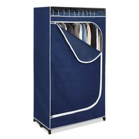 Portable Clothes Closet Wardrobe in Blue Breathable Fabric