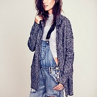Marled Slouchy Sweater Jacket