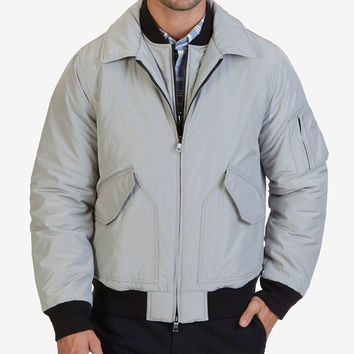 NAUTICA MENS MILITARY BOMBER JACKET