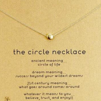 GOOD KARMA peace happiness key flower necklace circle