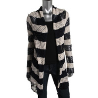 LRL Lauren Jeans Co. Womens Loose Knit Long Sleeves Cardigan Sweater