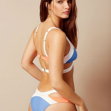 Mazzy Bikini Bottom White And Blue