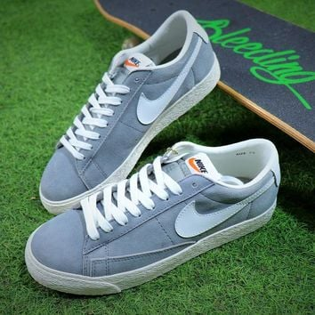 New Nike Blazer Sb Grey White Plate Shoes - Best Online Sale