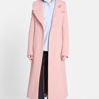 Women's Marni Wide Lapel Wool Blend Coat,