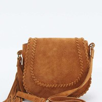 Tan Leather Whipstitch Saddle Bag - Urban Outfitters