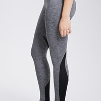 Marled Mesh-Paneled Leggings