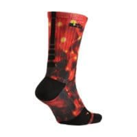 Nike LeBron Elite Crew Basketball Socks Size Small (Red)