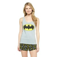 Women's Batman Logo Tank/Short PJ Set