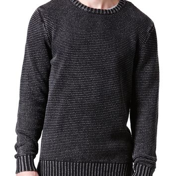 Modern Amusement Tripp Tonal Stripe Sweater - Mens Sweater - Black