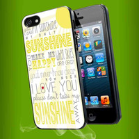 You Are My Sunshine Quote iPhone Case And Samsung Galaxy Case
