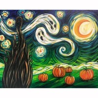5D Diamond Painting Ghosts and Pumpkins Kit