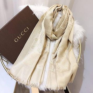 Perfect Gucci Women Fashion Accessories Sunscreen Cape Scarves Silk Scarf