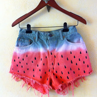 Watermelon shorts DIY