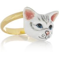 Finds - + Nach gold-plated porcelain ring