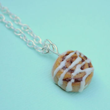 Miniature Cinnamon Roll Cinnamon Bun Polymer by PumpkinPyeBoutique