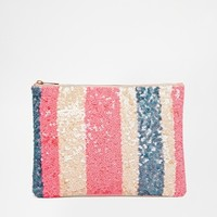 ASOS Sequin Stripe Clutch Bag