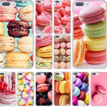 Food for Macarons Cookies Hard Phone Cover Case for iphone 5 6 7 8 X