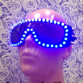 LED Glasses, Rave Glasses, Led Goggles, Burning Man Goggles, Steampunk Glasses, Steampunk Goggles, EDM, Festival Clothing, Rave Clothing