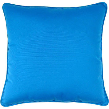 "Sunbrella Pacific Blue Indoor/Outdoor Pillow, 18"" x 18"""