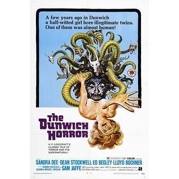 Dunwich Horror The Movie poster Metal Sign Wall Art 8in x 12in