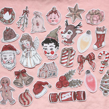 christmas sticker set ~ 25 pack