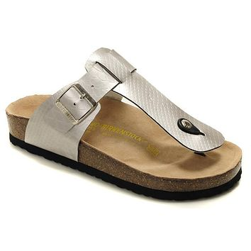 Birkenstock Medina Sandals Artificial Leather Silvers - Ready Stock
