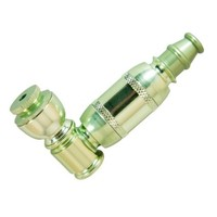 Smoking Pipe Tobacco Hand Pipe Color Green or Silver