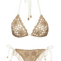 Polly Crochet Triangle Bikini Set, South Beach