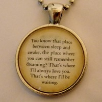 Peter Pan Necklace. You Know That Place Quote. 18 Inch Ball Chain. from Evangelina's Closet