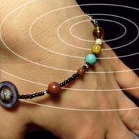 MiniVerse - Solar System Bracelet - Petite - 6.5 inches - 16.5 cm - Beadwork - Planets - Astronomy - Statement Bracelet by Chain of Being