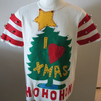 Size XL GRINCH Ugly Christmas Sweater Contest by Greatdealsforyou