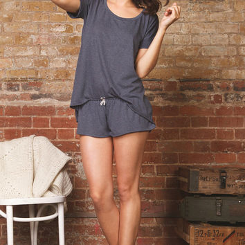 Tee Shirt & Short Lingerie Set -Nightwear - Multiple Colour Options