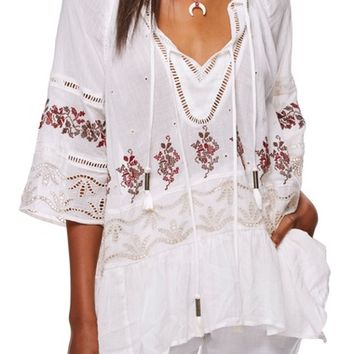 Free People You're Mine Peasant Tunic | Nordstrom