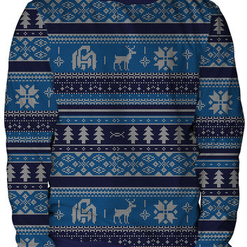 Blue Winter Unisex Crewneck Sweatshirt