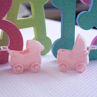 12 Pink Stroller Wagon Favors Baby Shower Party Decoration Crafts Accessories