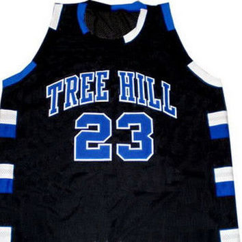 NATHAN SCOTT #23 ONE TREE HILL RAVENS JERSEY BLACK NEW ANY SIZE XS - 5XL