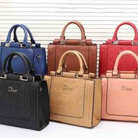 Dior Two-Piece Women Shopping Bag Leather Tote Handbag Shoulder Bag H-MYJSY-BB