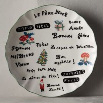 Parisian Holiday Dessert Plate by Nathalie Lete