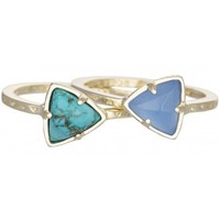 Ann Stackable Rings in Blue Oasis by Kendra Scott | Charm & Chain