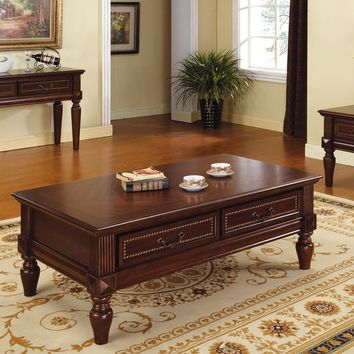 Steve Silver Davina Rectangle Cherry Wood Coffee Table - Coffee Tables at Hayneedle