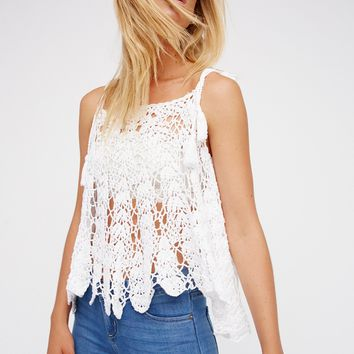 Free People Lovely Lady Open Shoulder Poncho