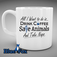 Veterinarian, Funny Coffee Mug,Veterinary Medicine, Vet Tech, Coffee Mug, Animal lover gift, By Blue Fox Gifts * 231