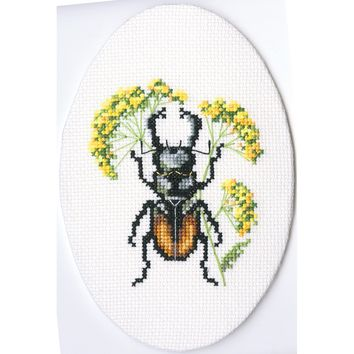 "RTO Counted Cross Stitch Kit 3""X3.5""-Bug On Hair's Ear (16 Count)"