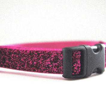 Sparkle Pink Dog Collar Adjustable Sizes (XS, S, M)