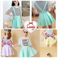 🎀 Pastel Mint Green Suspender Skirt 🎀