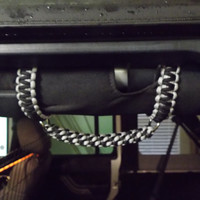 Paracord Roll Bar Grab Handles Jeep Wrangler JK-TJ-YJ Choose from over 25 colors